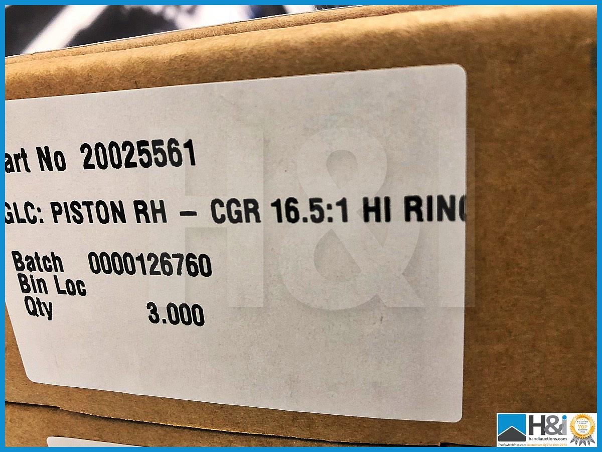Lot 56 - 8 x Cosworth Lotus Evora GT2 GLC pistons RH. CGR 16.5:1 Hi ring. Code: 20025561. Lot 305