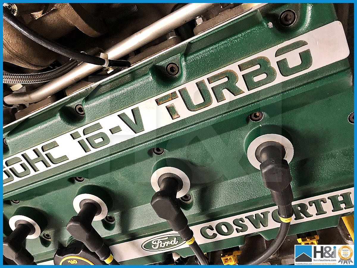 Lot 149 - Unique Cosworth museum display engine. Cosworth 2.0 Litre 16v DOHC 'Green Top'. Comes with Garrett t