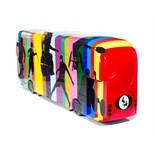 Artist: Tom Yendell  Design: The Paralympic Bus    About the artist   Colours, shapes and figures of