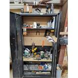 Cabinets with Various Tools