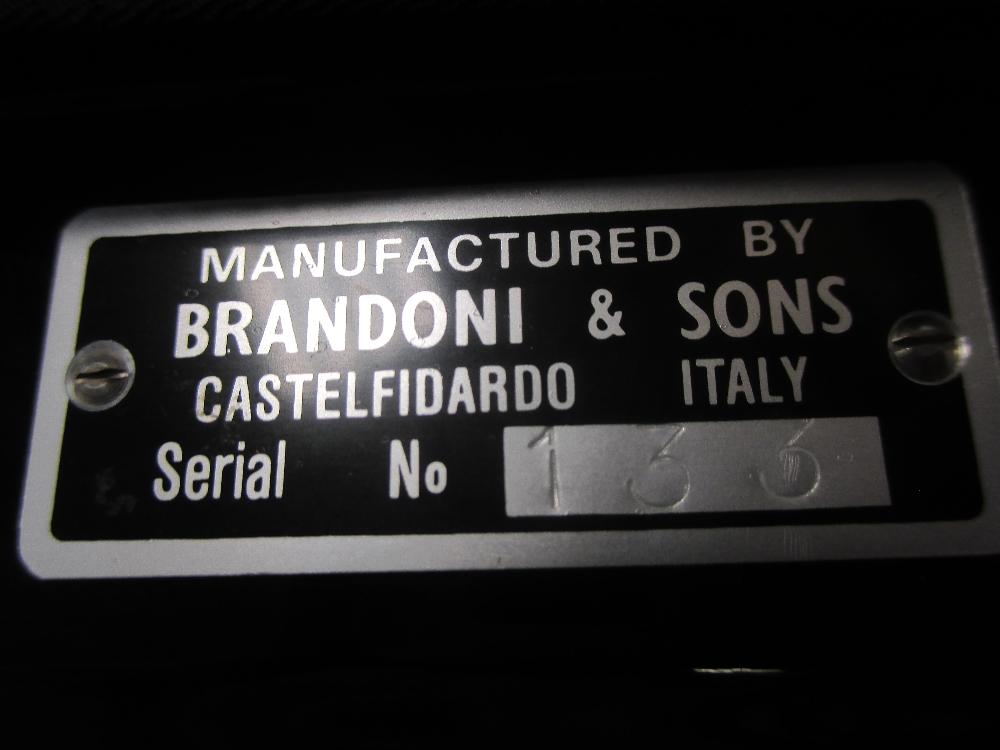 Lot 162 - A Brandoni & Sons accordion, model 68LI Super Musette from the Liberty piano series, cased