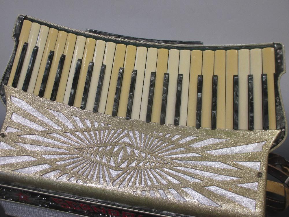"Lot 164 - A Scandalli ""Scott Wood Four"" accordion, cased"