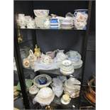 A Royal Worcester twelve piece tea set with Japanese butterfly pattern (7 tea plates only); a
