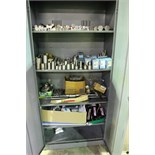 LOT OF TOOLS, misc. (in one metal cabinet)