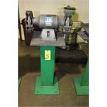 BENCH GRINDER, BALDOR, ¾ HP motor, fabricated stand