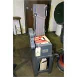 """COMBINATION BELT/DISC SANDER, KING MACHINERY, 6"""" belt, 8"""" disc, w/fabricated stand"""