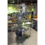 """VERTICAL TURRET MILL, SHYEHORNG MDL. 2S, 9"""" x 42"""" table, spds: 80-2720 RPM, long. pwr. feed, 2-"""