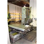 """TABLE TYPE HORIZONTAL BORING MILL, GIDDINGS & LEWIS MDL. 330T, 36"""" x 74"""" table, 48"""" approx. vert."""
