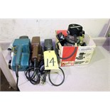 LOT OF WOODWORKING TOOLS: router & sanders
