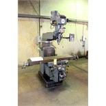 """VERTICAL TURRET MILL, LAGUN MDL. FTV4, 11"""" x 58"""" table, #40 NST spdl. taper, 3-way pwr. feeds, 2-"""