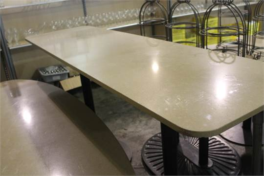 Soapstone Bar Height Table Double Base 82 Quot X 24 Quot Used