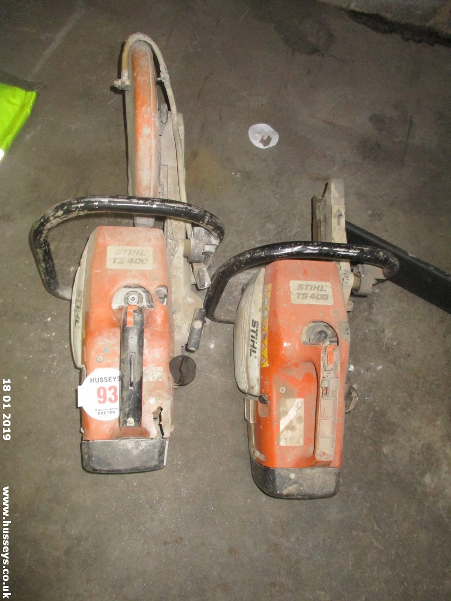 Lot 93 - STIHL TS400 SPARES