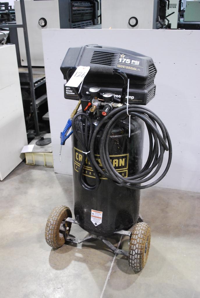 Craftsman 3 5 Hp 175 Psi 25 Gal 120v Portable Air Compressor