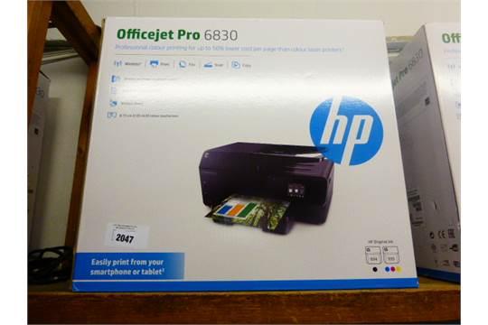 2019 HP officejet pro 6830 wireless all in one printer in box