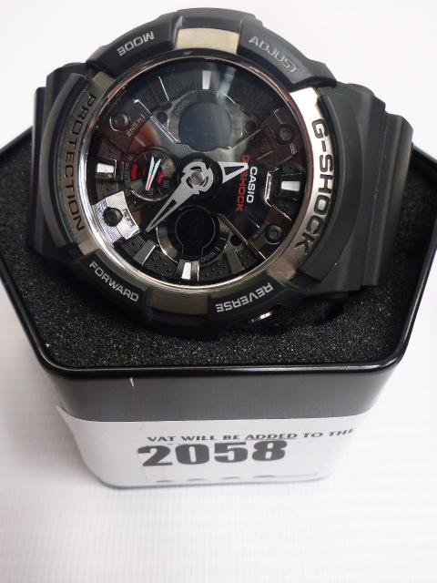 Lot 2058 - Casio G-Shock GA-200 wristwatch in box