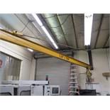 1 Ton Cap Wall Mounted Jib w/ Acco  1/2 Ton Electric Hoist