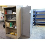 Storage Cabinets and Shelf with Misc Contents