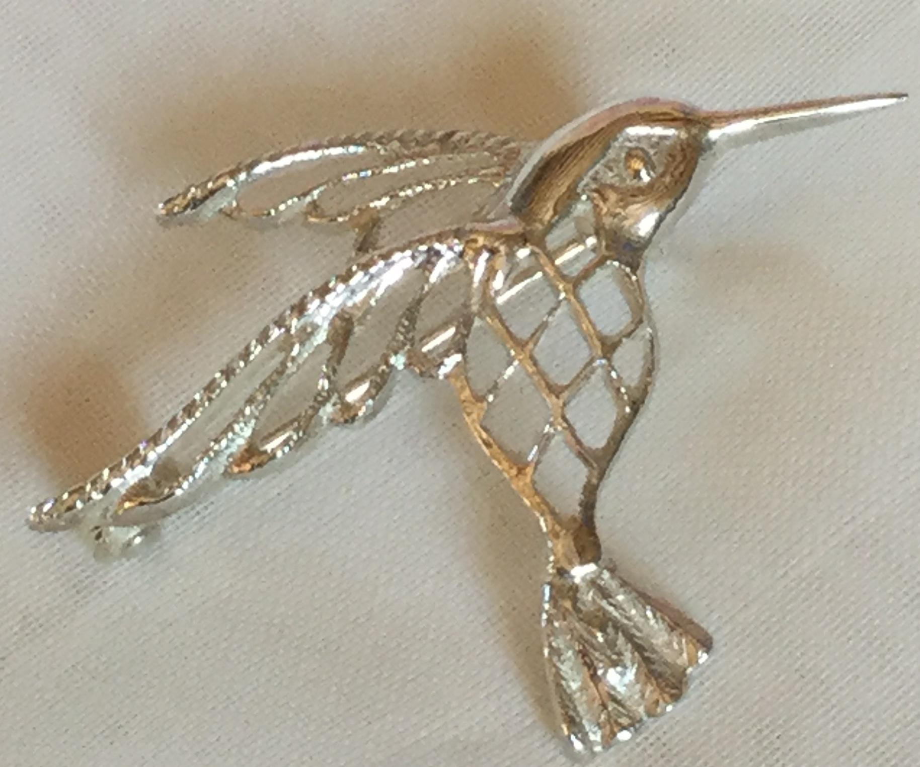 Lot 7 - Maltese Vintage Bird Brooch 4.10 g Silver 4 Cm x 3 Cm