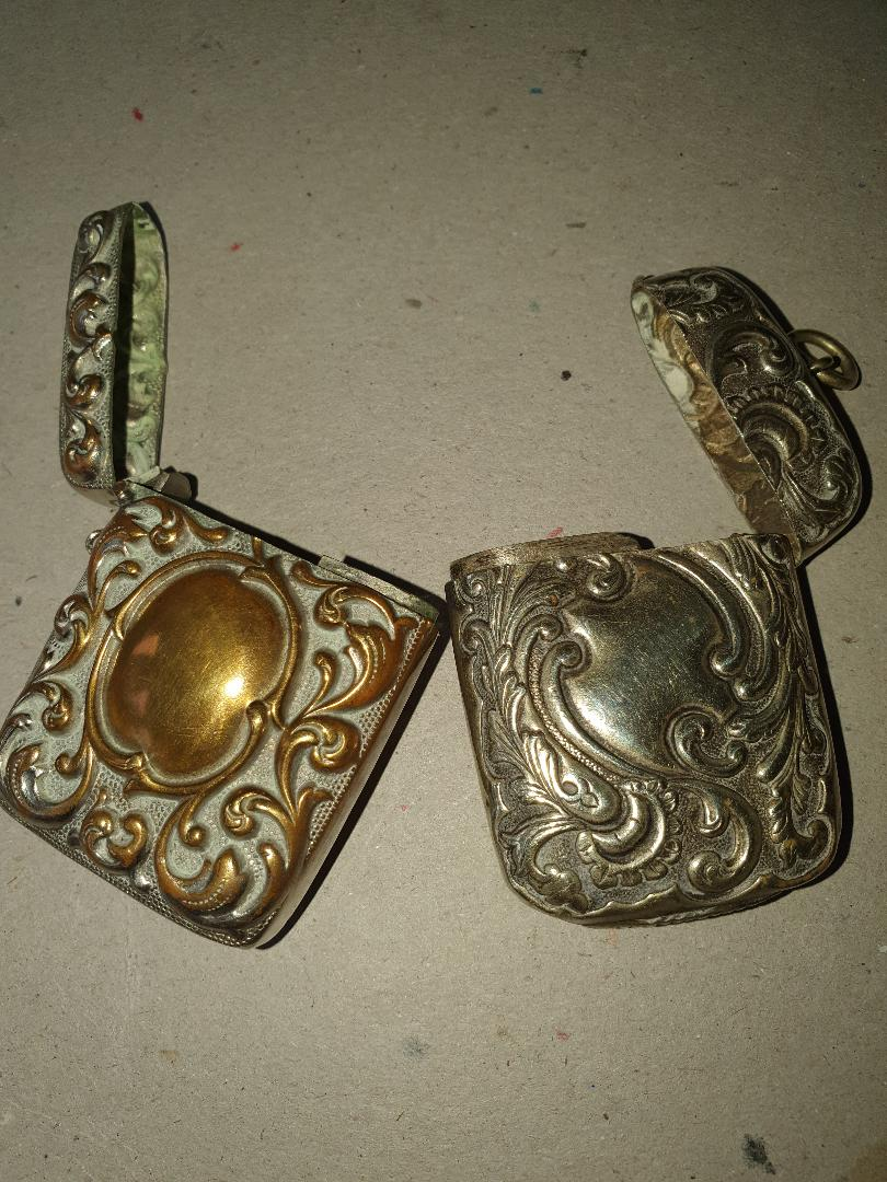Lot 23 - Pair of Silver Plated Vesta Cases.