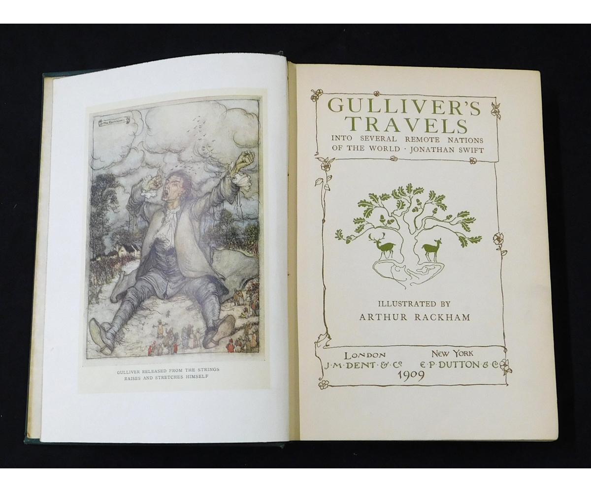 JONATHAN SWIFT: GULLIVER'S TRAVELS, illustrated Arthur Rackham, London, 1909, 1st trade edition, - Image 2 of 2