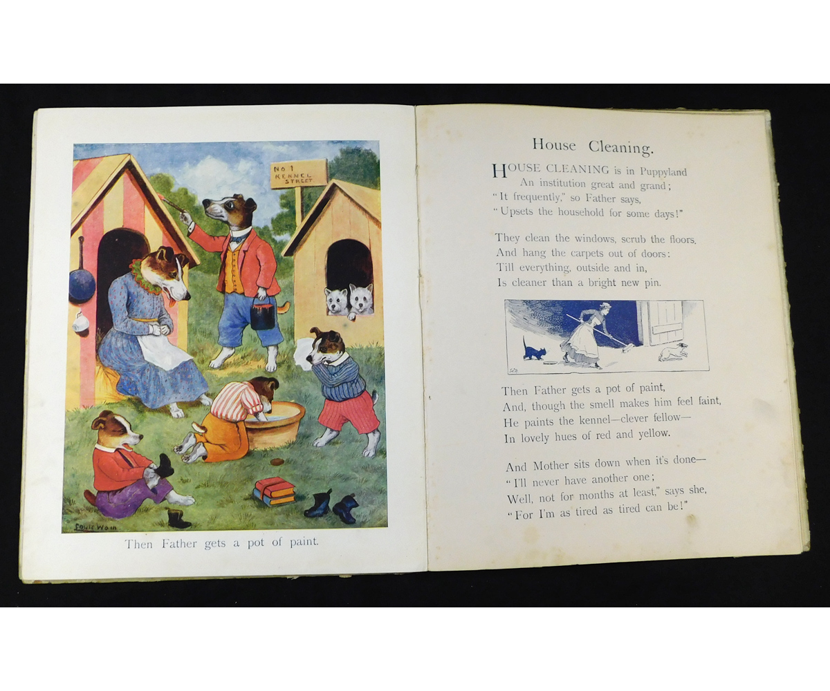 LOUIS WAIN: CLAWS AND PAWS, STORIES AND PICTURES FROM KITTENLAND AND PUPPYLAND, London and - Image 2 of 3