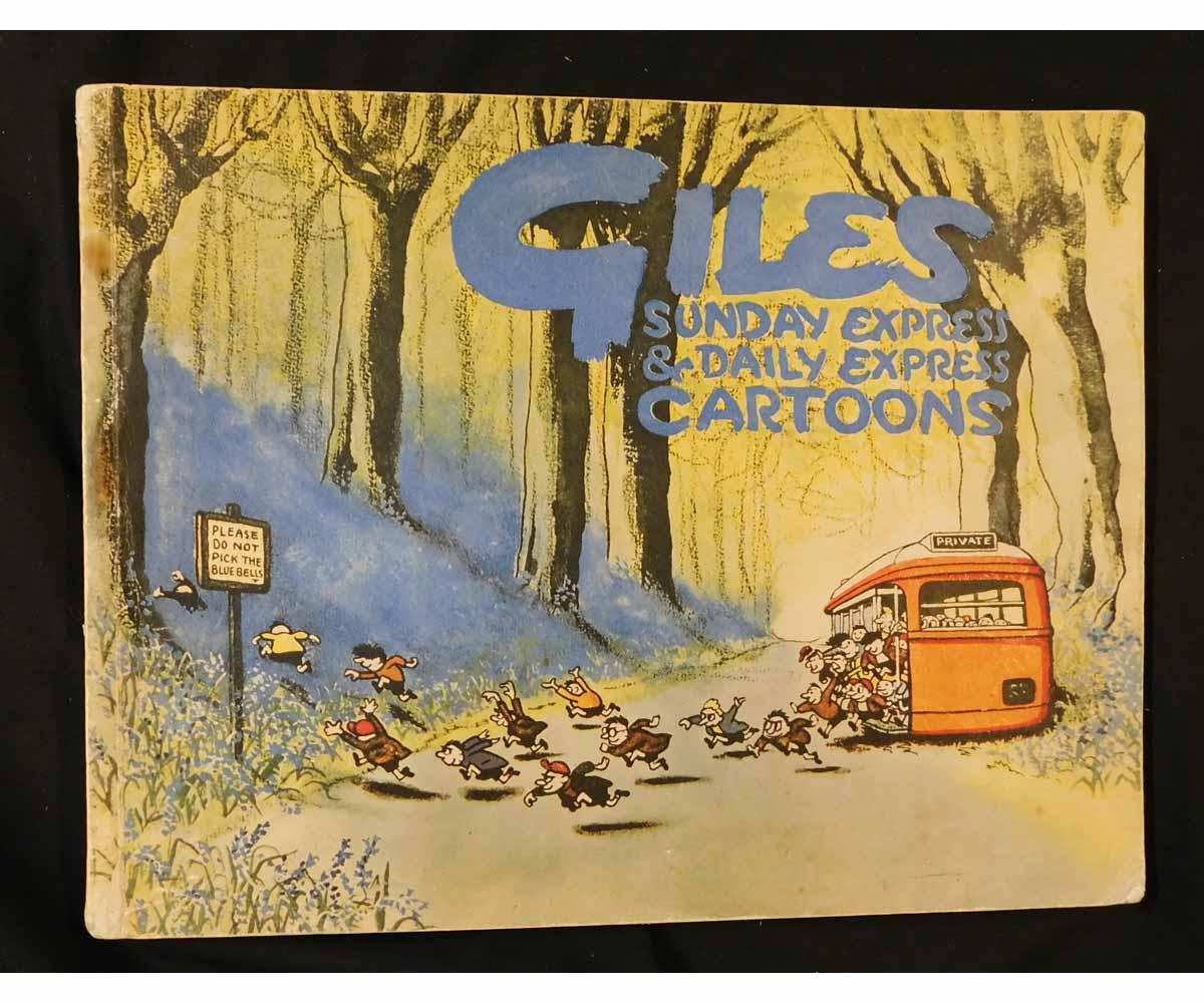 CARL GILES: GILES SUNDAY EXPRESS AND DAILY EXPRESS CARTOONS, [1948], 3rd series, oblong quarto,