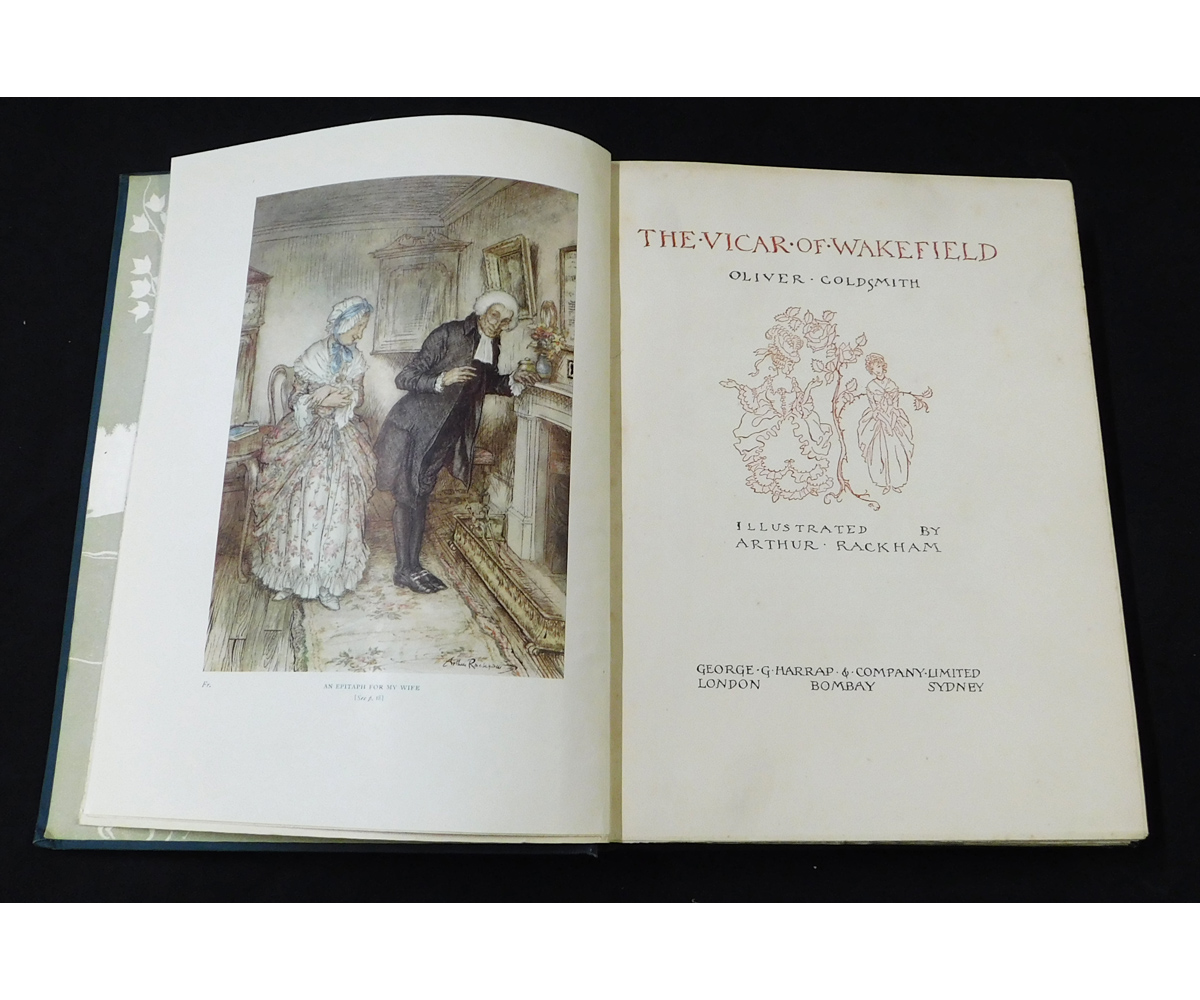 OLIVER GOLDSMITH: THE VICAR OF WAKEFIELD, illustrated Arthur Rackham, London, 1929, 1st edition, - Image 3 of 10