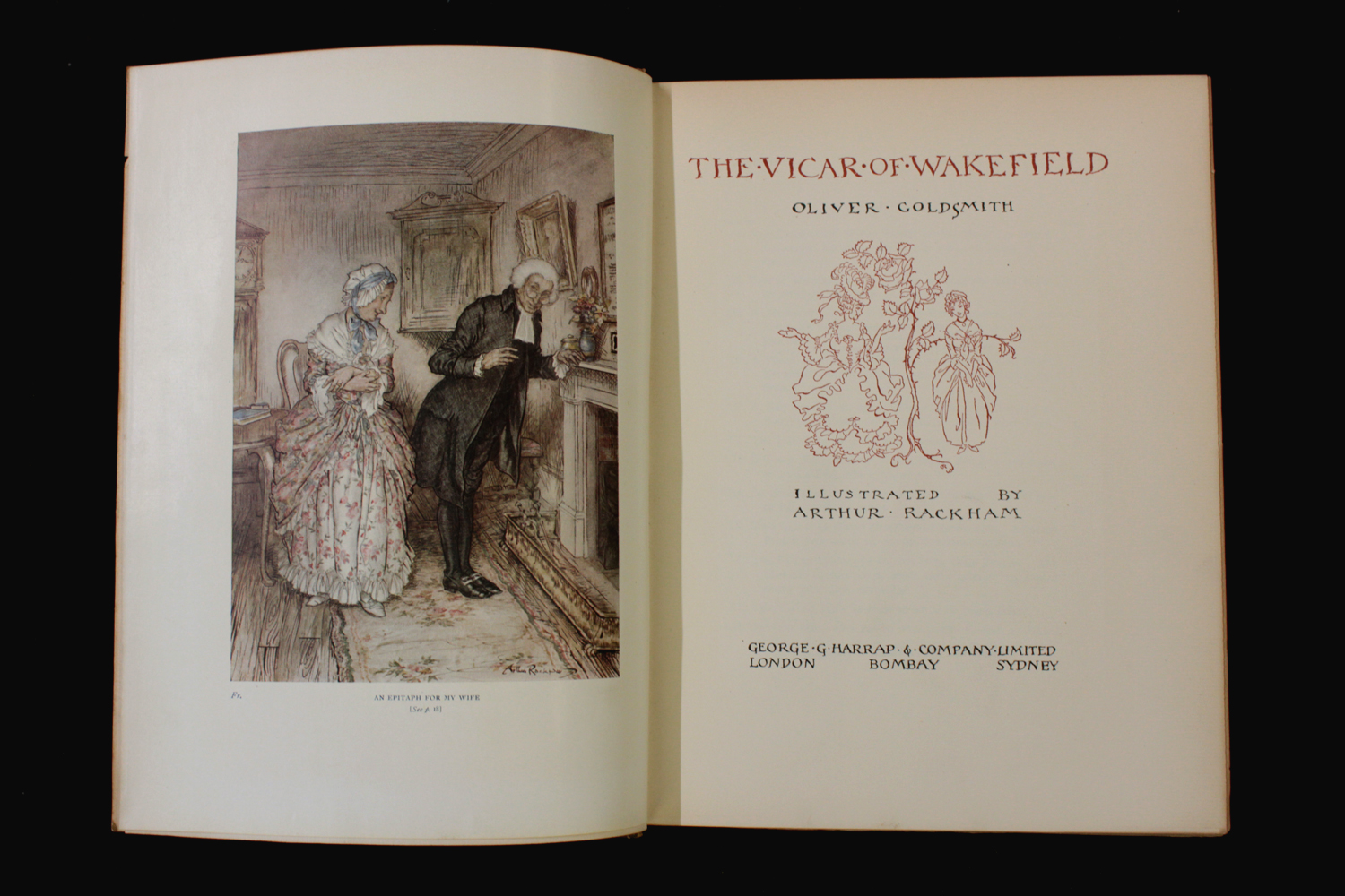 OLIVER GOLDSMITH: THE VICAR OF WAKEFIELD, illustrated Arthur Rackham, London, 1929, 1st trade - Image 4 of 6