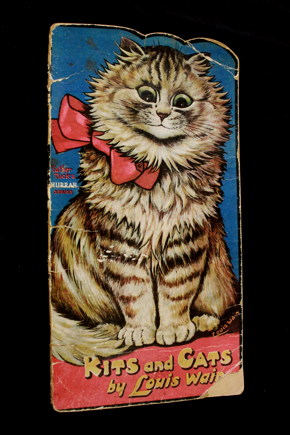 LOUIS WAIN: KITS AND CATS [SHAPE BOOK], London, Raphael Tuck, circa 1930, 4 full page leaves of