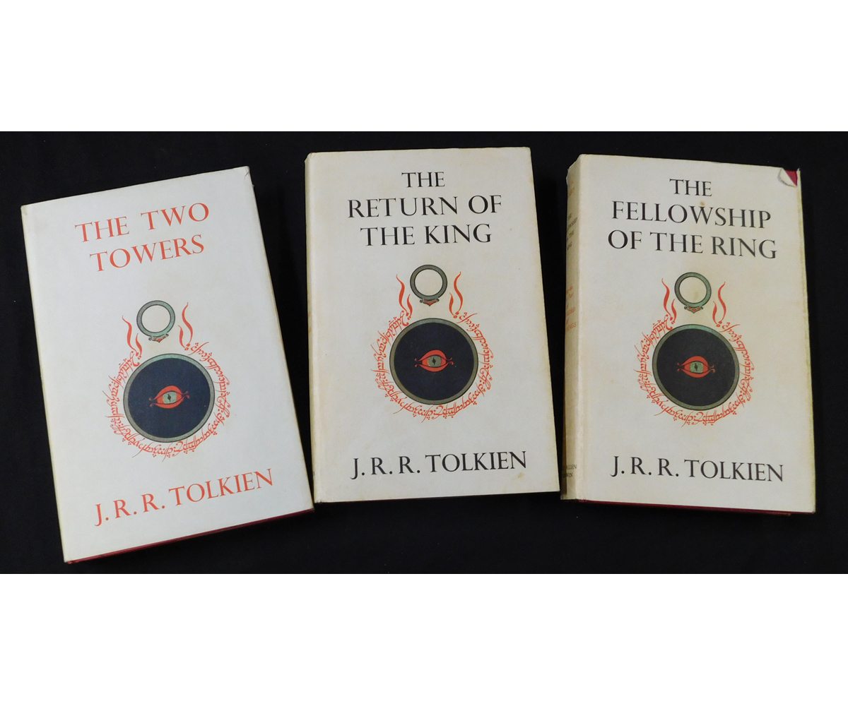J R R TOLKIEN: THE LORD OF THE RINGS - THE FELLOWSHIP OF THE RING- THE TWO TOWERS - THE RETURN OF
