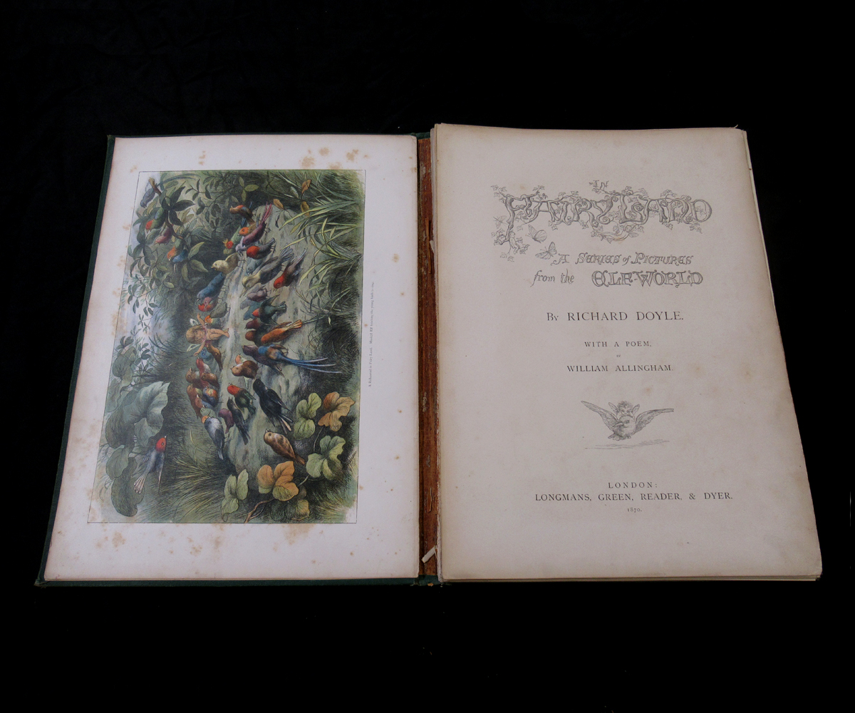 RICHARD DOYLE (ILLUSTRATED) AND WILLIAM ALLINGHAM: IN FAIRYLAND, A SERIES OF PICTURES FROM THE ELF- - Image 3 of 11