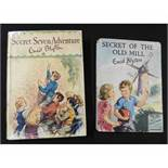ENID BLYTON: 2 titles: SECRET OF THE OLD MILL, illustrated Eileen A Soper, London, Brockhampton