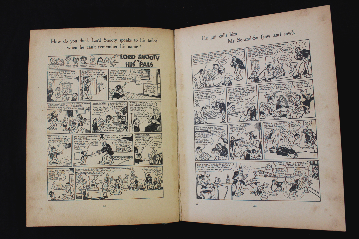 THE BEANO BOOK [No 1 Annual for 1940], London, Manchester and Dundee, D C Thomson & Co, [1939], 128p - Image 11 of 16