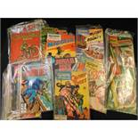 BOX assorted UK and USA comics including A CLASSIC IN PICTURES (AMEX) Nos 1-12 complete, original