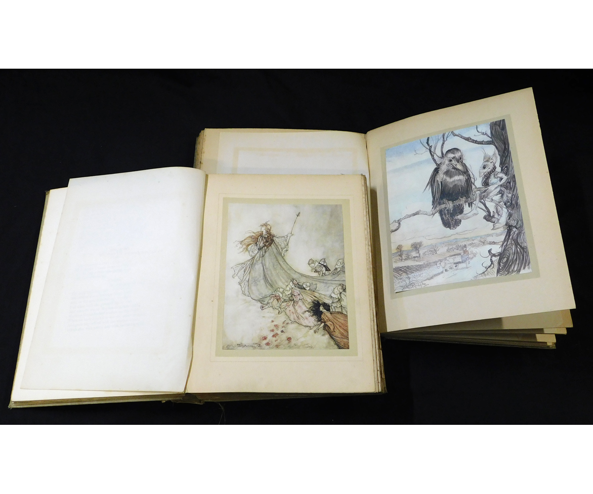 ARTHUR RACKHAM (ILLUSTRATED) 2 titles: A MIDSUMMER-NIGHT'S DREAM, London, William Heinemann, 1908, - Image 2 of 2