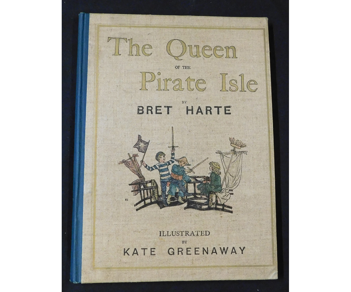 BRET HARTE: THE QUEEN OF THE PIRATE ISLE, illustrated Kate Greenaway, London, Frederick Warne &