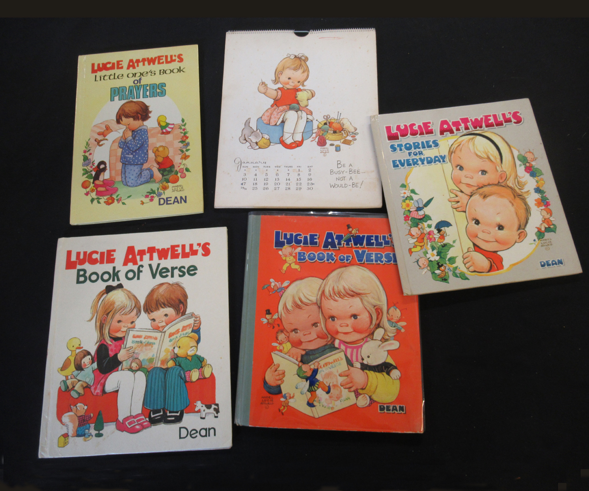 MABEL LUCIE ATTWELL: 5 titles: LUCIE ATTWELL'S STORIES FOR EVERY DAY, 1964, 1st edition, original