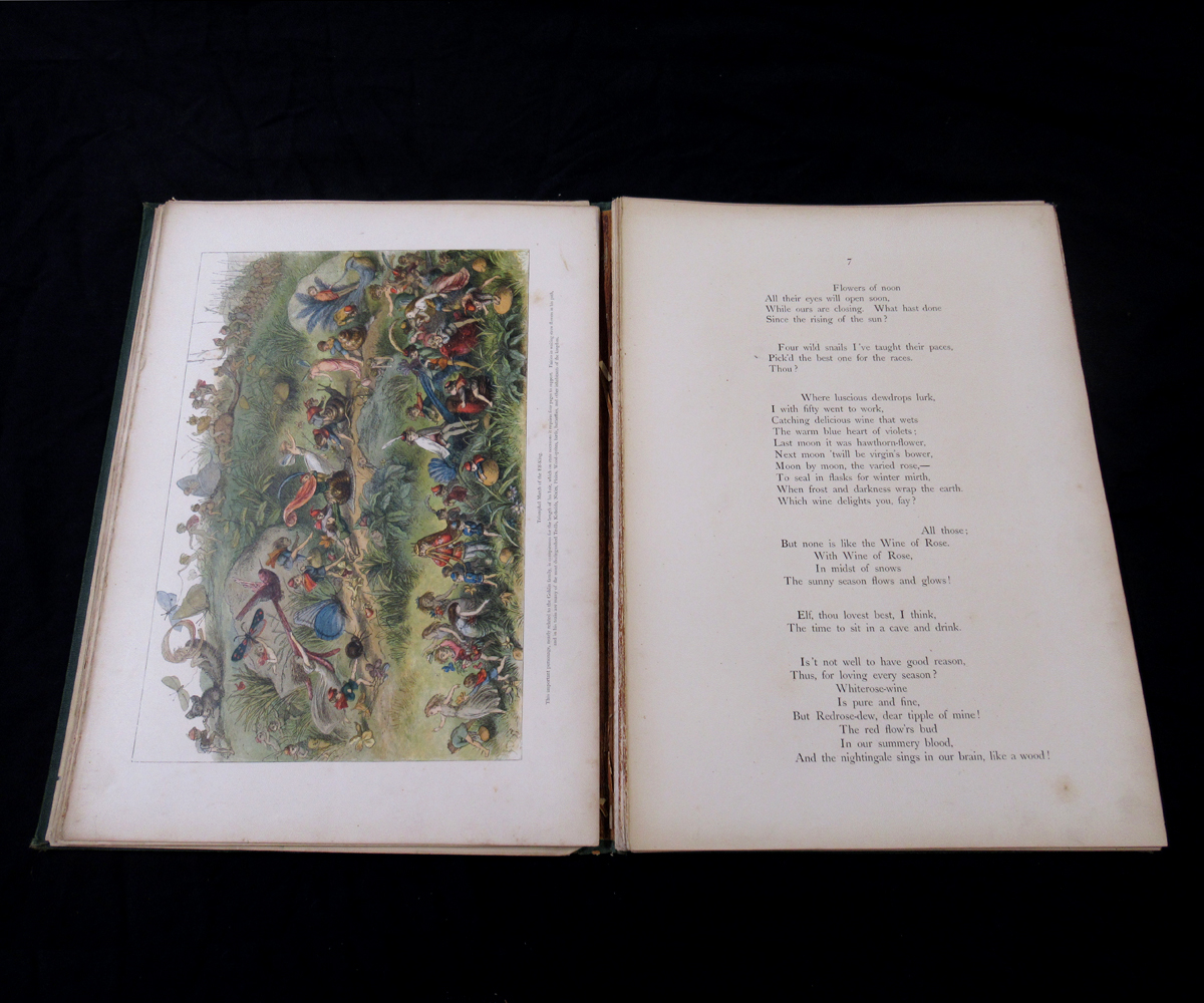 RICHARD DOYLE (ILLUSTRATED) AND WILLIAM ALLINGHAM: IN FAIRYLAND, A SERIES OF PICTURES FROM THE ELF- - Image 4 of 11
