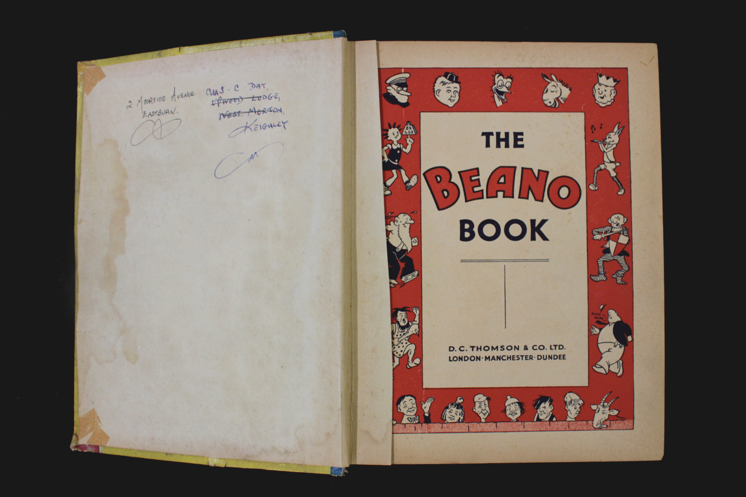 THE BEANO BOOK [No 1 Annual for 1940], London, Manchester and Dundee, D C Thomson & Co, [1939], 128p - Image 4 of 16