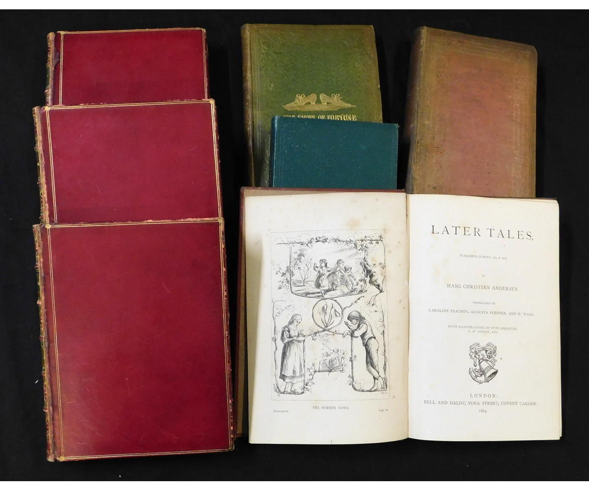 HANS CHRISTIAN ANDERSEN: 5 titles: THE SHOES OF FORTUNE, AND OTHER TALES, illustrated Otto Speckter,