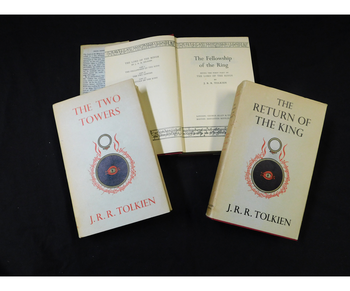 J R R TOLKIEN: THE LORD OF THE RINGS - THE FELLOWSHIP OF THE RING - THE TWO TOWERS - THE RETURN OF