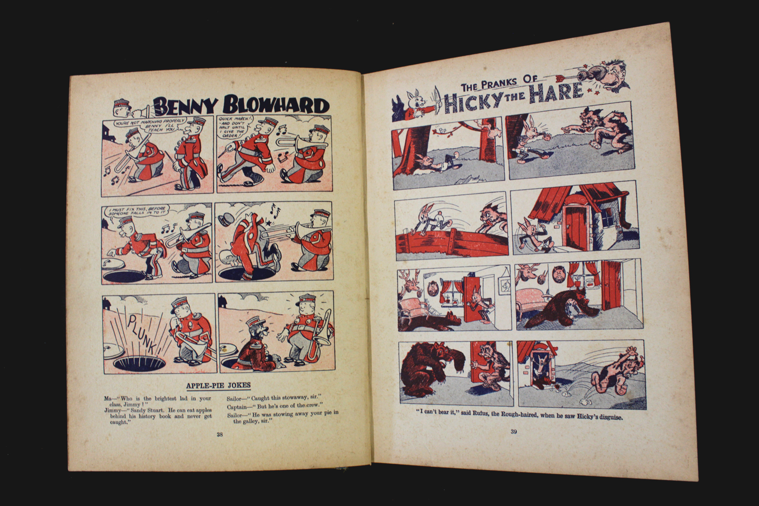 THE BEANO BOOK [No 1 Annual for 1940], London, Manchester and Dundee, D C Thomson & Co, [1939], 128p - Image 8 of 16