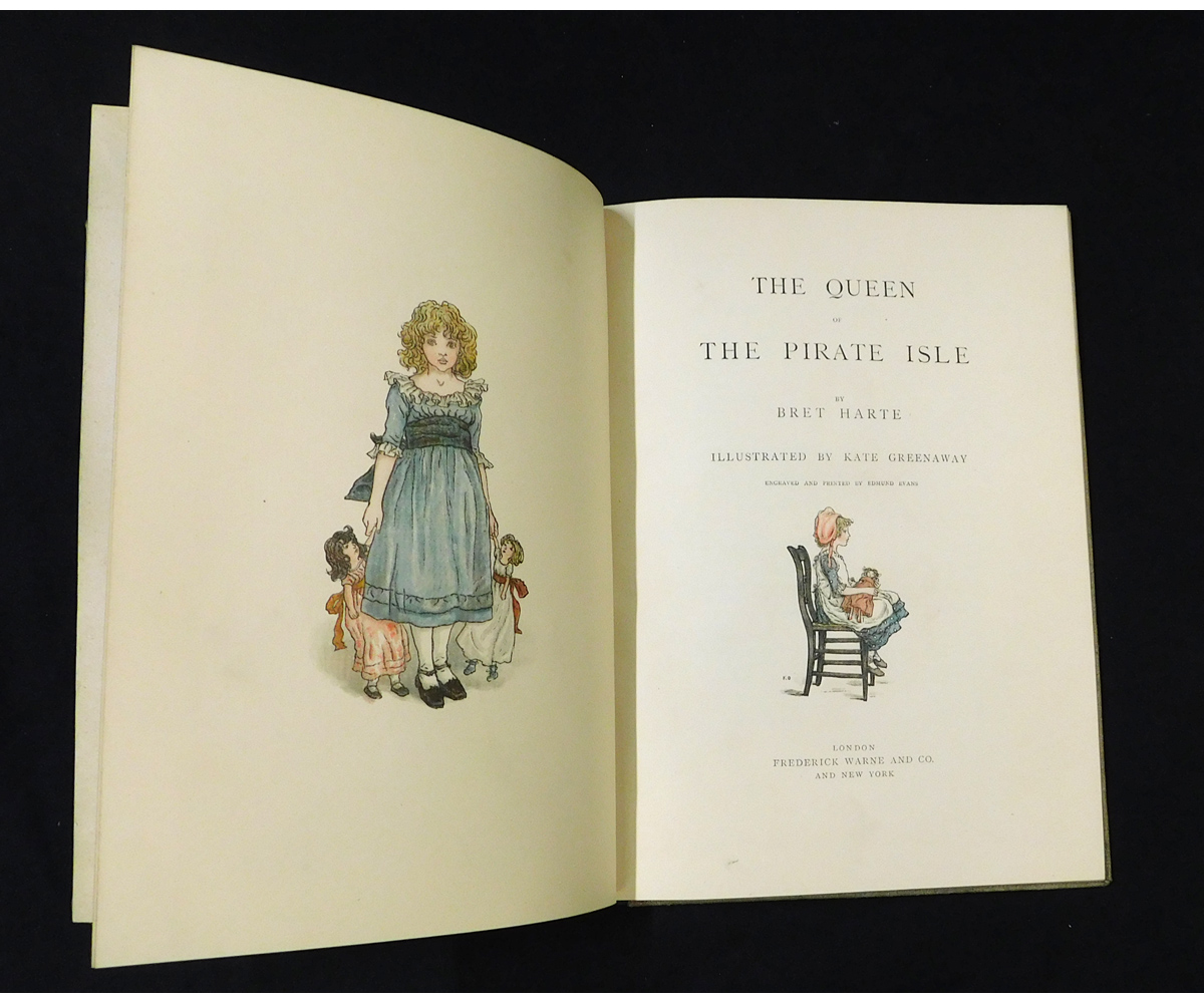 BRET HARTE: THE QUEEN OF THE PIRATE ISLE, illustrated Kate Greenaway, London, Frederick Warne & - Image 2 of 2