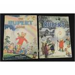 THE RUPERT BOOK, [1948] annual, 4to, original pictorial wraps + RUPERT, [1949] annual, price