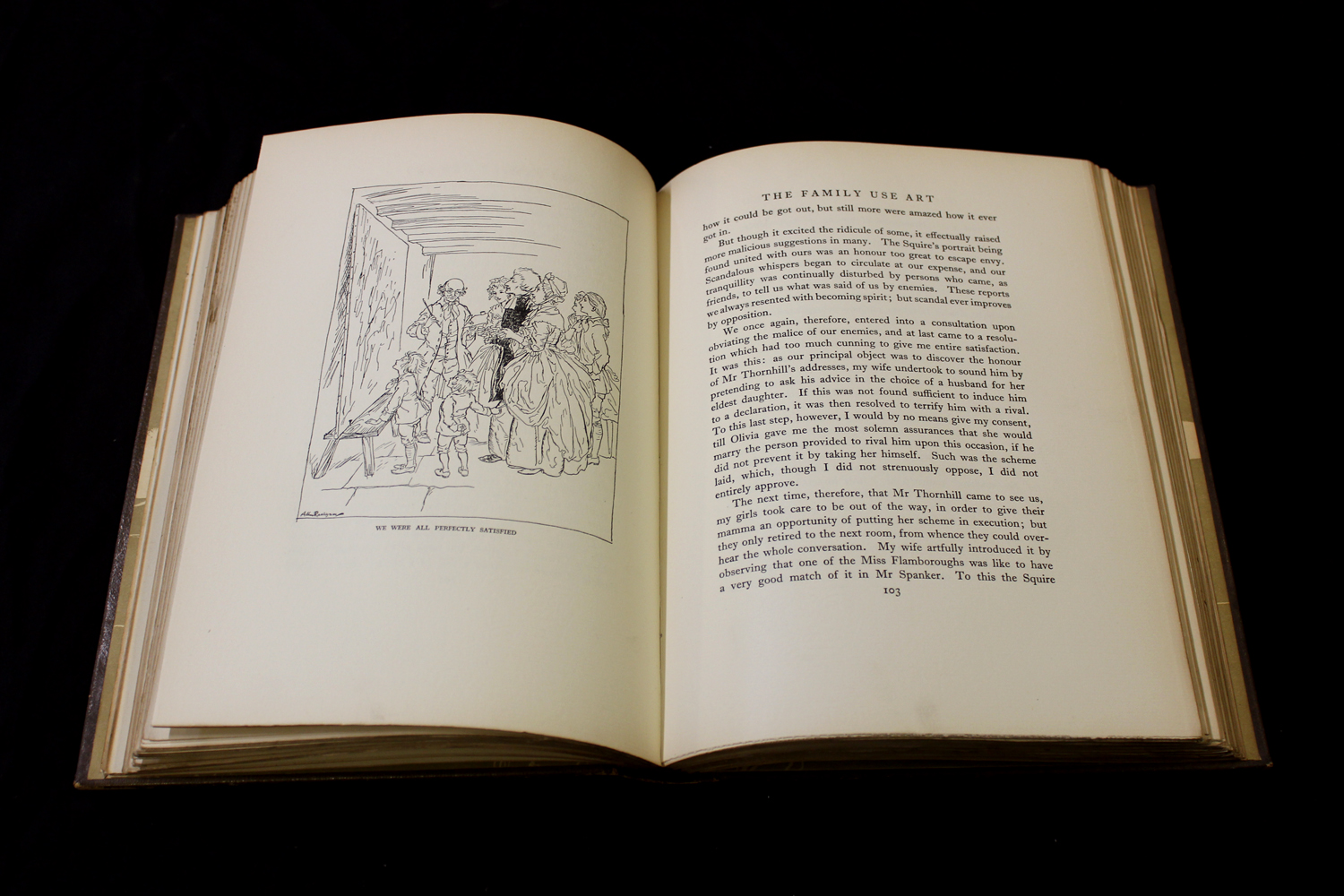 OLIVER GOLDSMITH: THE VICAR OF WAKEFIELD, illustrated Arthur Rackham, London, 1929, 1st trade - Image 3 of 6