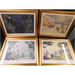 COLLECTION 11 Alfred E Bestall and John Harrold Rupert the Bear limited edition coloured prints,