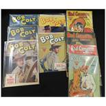 PACKET: 12 L Miller UK editions of USA Western comics: ROD CAMERON Nos 1-2, 4-8 + BOB COLT, Nos 50-