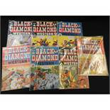 PACKET: BLACK DIAMOND WESTERN, (World Distributors), UK edition of USA title 1950s, Nos 1-14