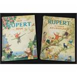 RUPERT IN MORE ADVENTURES, [1944] annual, price unclipped, 4to, original pictorial wraps, inner