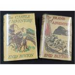 ENID BLYTON: THE ISLAND OF ADVENTURE - THE CASTLE OF ADVENTURE, London, MacMillan, 1944, 1946, 1st
